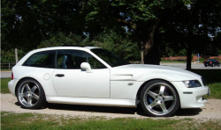 2000 BMW M Coupe in Alpine White 3 over Estoril Blue & Black Nappa - Side
