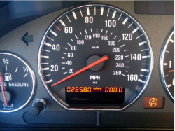 2000 BMW M Coupe in Alpine White 3 over Estoril Blue & Black Nappa - Odometer