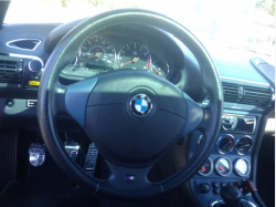 2000 BMW M Coupe in Alpine White 3 over Estoril Blue & Black Nappa - Interior