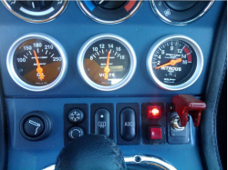 2000 BMW M Coupe in Alpine White 3 over Estoril Blue & Black Nappa - Accessory Gauges