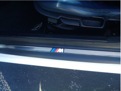 2000 BMW M Coupe in Alpine White 3 over Estoril Blue & Black Nappa - Door Sill