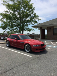 2000 BMW M Coupe in Imola Red 2 over Dark Beige Oregon