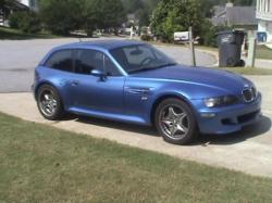 1999 BMW M Coupe in Estoril Blue Metallic over Estoril Blue & Black Nappa - Front 3/4