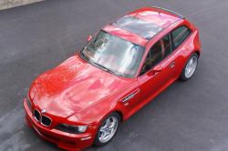 1999 BMW M Coupe in Imola Red 2 over Imola Red & Black Nappa