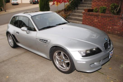 2000 BMW M Coupe in Titanium Silver Metallic over Black Nappa - Front 3/4