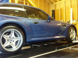 2000 BMW M Coupe in Estoril Blue Metallic over Black Nappa