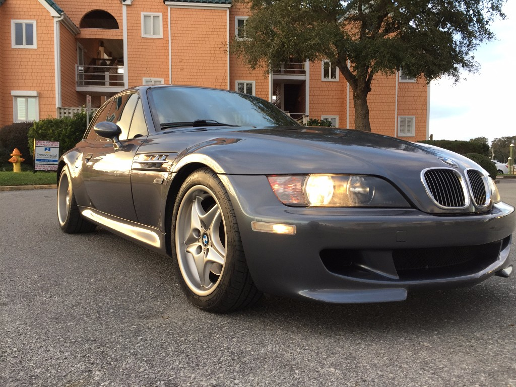 2000 BMW M Coupe in Steel Gray Metallic over Dark Gray & Black Nappa