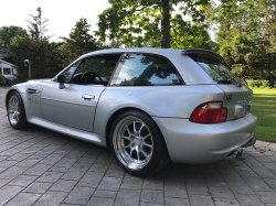 2000 BMW M Coupe in Titanium Silver Metallic over Estoril Blue & Black Nappa