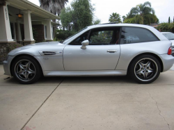 2001 BMW M Coupe in Titanium Silver Metallic over Imola Red & Black Nappa