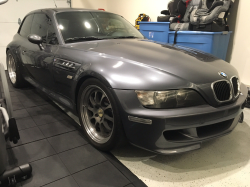 2001 BMW M Coupe in Steel Gray Metallic over Black Nappa