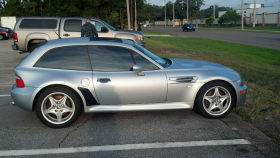 2000 BMW M Coupe in Arctic Silver over Black