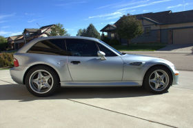 1999 BMW M Coupe in Arctic Silver over Black