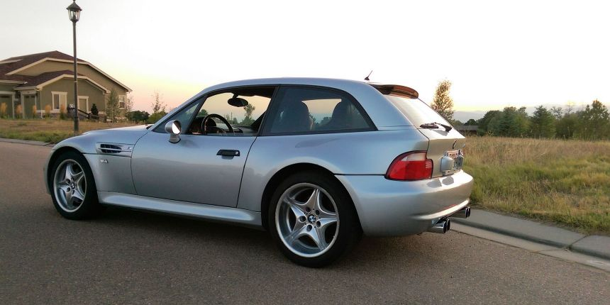 1999 BMW M Coupe in Arctic Silver over Estoril Blue