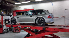 2000 BMW M Coupe in Titanium Silver over Imola Red