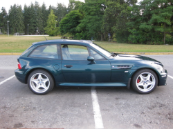 1999 BMW M Coupe in Boston Green Metallic over Dark Beige Oregon - Side