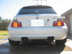 2000 BMW M Coupe in Alpine White 3 over Dark Beige Oregon - Back