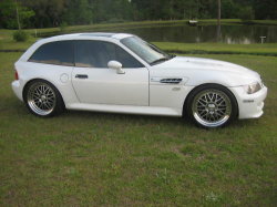 2000 BMW M Coupe in Alpine White 3 over Dark Beige Oregon - Side