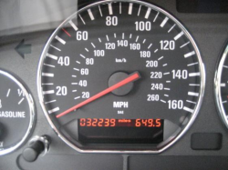 2000 BMW M Coupe in Cosmos Black Metallic over Black Nappa - Odometer