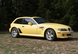 2000 BMW M Coupe in Dakar Yellow 2 over Black Nappa - Front 3/4