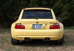 2000 BMW M Coupe in Dakar Yellow 2 over Black Nappa - Back