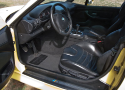 2000 BMW M Coupe in Dakar Yellow 2 over Black Nappa - Interior