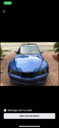 2000 BMW M Coupe in Estoril Blue Metallic over Dark Beige Oregon