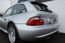 2000 BMW M Coupe in Titanium Silver Metallic over Black Nappa - Rear 3/4 Detail