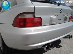 2000 BMW M Coupe in Titanium Silver Metallic over Dark Gray & Black Nappa - Back Detail