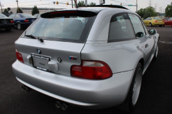 2000 BMW M Coupe in Titanium Silver Metallic over Black Nappa - Rear 3/4