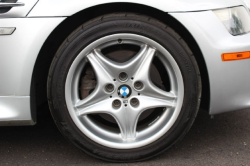 2000 BMW M Coupe in Titanium Silver Metallic over Black Nappa - Front Passenger Wheel