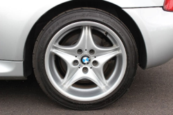 2000 BMW M Coupe in Titanium Silver Metallic over Black Nappa - Rear Driver Wheel