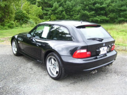 2001 BMW M Coupe in Black Sapphire Metallic over Black Nappa - Rear 3/4