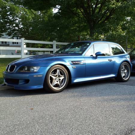 2001 BMW M Coupe in Estoril Blue Metallic over Estoril Blue & Black Nappa