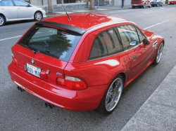 2001 BMW M Coupe in Imola Red 2 over Imola Red & Black Nappa - Rear 3/4