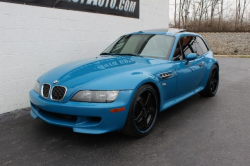 2001 BMW M Coupe in Laguna Seca Blue over Laguna Seca Blue & Black Nappa - Front 3/4