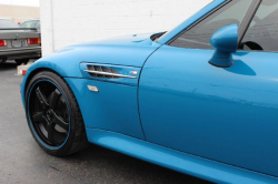 2001 BMW M Coupe in Laguna Seca Blue over Laguna Seca Blue & Black Nappa - Side Detail