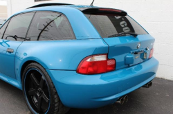 2001 BMW M Coupe in Laguna Seca Blue over Laguna Seca Blue & Black Nappa - Rear 3/4 Detail