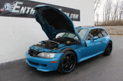 2001 BMW M Coupe in Laguna Seca Blue over Laguna Seca Blue & Black Nappa - Hood