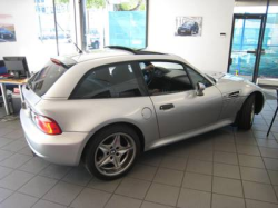 2001 BMW M Coupe in Titanium Silver Metallic over Black Nappa - Side