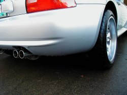 2001 BMW M Coupe in Titanium Silver Metallic over Black Nappa - Rear Fender Detail