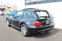 2002 BMW M Coupe in Black Sapphire Metallic over Black Nappa - Rear 3/4