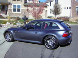 2002 BMW M Coupe in Steel Gray Metallic over Imola Red & Black Nappa - Side