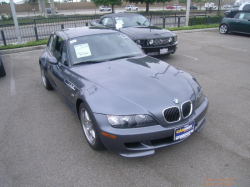 2002 BMW M Coupe in Steel Gray Metallic over Dark Gray & Black Nappa - Front 3/4