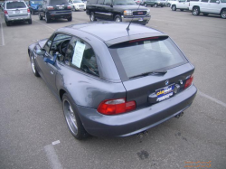 2002 BMW M Coupe in Steel Gray Metallic over Dark Gray & Black Nappa - Rear 3/4