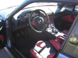 2002 BMW M Coupe in Steel Gray Metallic over Imola Red & Black Nappa - Interior