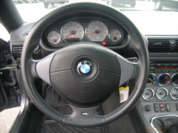 2002 BMW M Coupe in Steel Gray Metallic over Dark Gray & Black Nappa - Steering Wheel