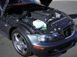 2002 BMW M Coupe in Steel Gray Metallic over Imola Red & Black Nappa - Engine Bay