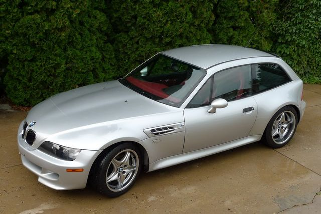 2002 BMW M Coupe in Titanium Silver Metallic over Imola Red & Black Nappa