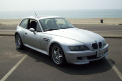 2002 BMW M Coupe in Titanium Silver Metallic over Black Nappa - Front 3/4