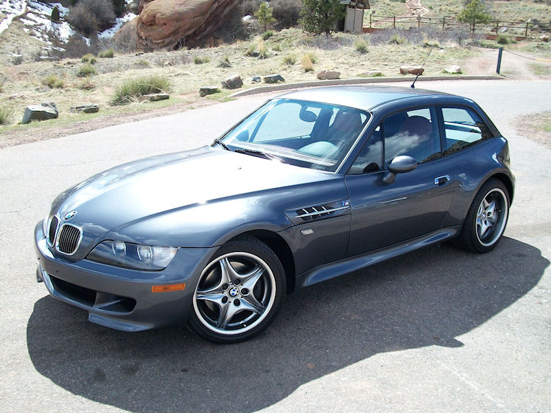 2002 BMW M Coupe in Steel Gray Metallic over Imola Red & Black Nappa